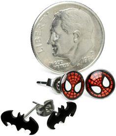 ThinkGeek :: Superhero Earrings