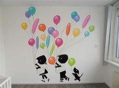 Debzys muurschildering - Jip en Janneke