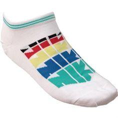 Nike Logo No Show Socks White Asst