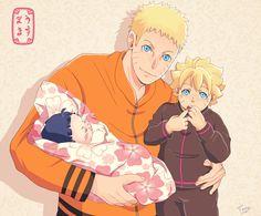 himawari, hinata and boruto Naruhina, Naruto Gaiden, Uzumaki Boruto, Naruto Comic, Naruto Cute, Naruto Shippuden Sasuke, Naruto And Sasuke, Anime Naruto, Uzumaki Family