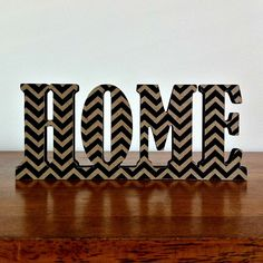 Home Wooden Freestanding Word Sign Plaque Black Chevron Home Decor Typography - by StudioAstratta on madeit Chevron Home Decor, Chevron Art, Black Chevron, Diy Home Decor, Dream Apartment, Apartment Ideas, Future House, Home Crafts, Animal Print Rug