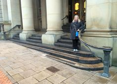 Alex outside the amazing Art Gallery.