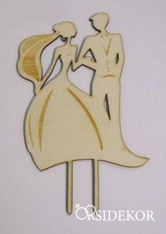 Esküvői tortadísz, menyasszony és vőlegény