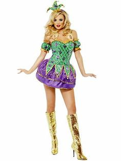 plus size women costumes Mardi gras