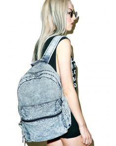 #DollsKill #lookbook #photoshoot #model #day #tripper #acid #wash #denim #backpack
