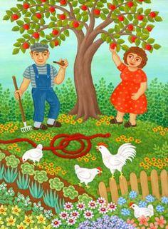 Adam og Eva 40 x 30 cm.