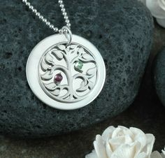 Would love this with my kiddos birthstones in it. So pretty and very nicely priced! #divinestampings #etsy $54.00