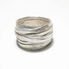 shimara carlow at diana porter, stak of silver rings