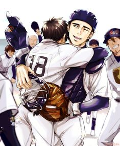 Hot Baseball Guys, Otaku Anime, Manga Anime, Anime Love, Anime Guys, Diamond No Ace, Blue Exorcist Anime, Handsome Anime, Anime Ships