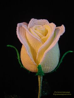 """Розы из бисера - Beaded roses: Роза """"Творческий порыв""""www.beadedroses.com"""