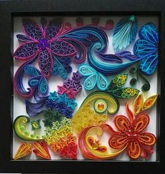 Tableau quilling colorfull.