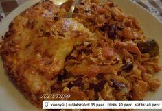 Zöldséges rakott tészta gazdagon Bacon, Rice, Chicken, Recipes, Food, Essen, Meals, Ripped Recipes, Eten