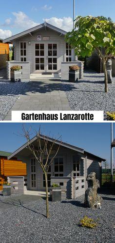 Sie sind auf der Suche nach einem modernen Gartenhaus? Dieses Gartenhaus wirkt durch den gräulichen Anstrich zeitlos und modern. Es passt sich jedem Haus an und ist ein Highlight in jedem Garten - somussdas