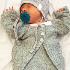 Knit Minty green baby jacket 💚 strikk søt grønn babyjakke – gudruns.blog