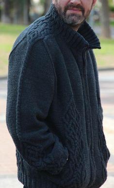 Fashion Sewing, Knit Fashion, Knitting Designs, Knitting Patterns, Mens Jumpers, Knit Jacket, Knitting Yarn, Knitwear, Knit Crochet