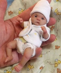 Polymer Clay babies tiny doll looks so realistic