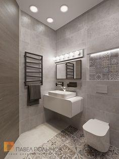 Душевая комната, стиль минимализм, ЖК Duderhof Club