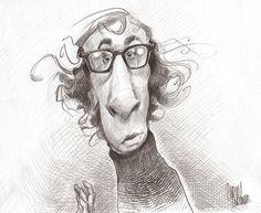 Woody Allen pencil caricature #woodyallen #woodyalen #filmcaricature…