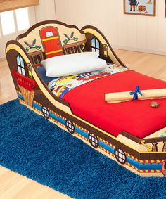 Another great find on #zulily! Pirate Toddler Bed by KidKraft #zulilyfinds