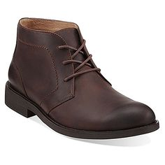 Clarks Burns Hot | Men's - Brown Leather - FREE SHIPPING at OnlineShoes.com