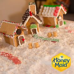 Gingerbread houses aren't the best, Graham Cracker Houses are! Grab the treats, candy, icing and of course the Honey Maid Graham Crackers to create this awesome Holiday Village. A fun Christmas holiday activity to do with the kids, or the whole family!