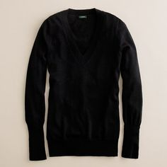I have a stupid obsession with black v- neck sweaters