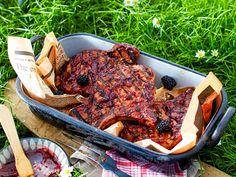Fleisch grillen - Rezepte mit Kotelett, Steak und Co. - schweinekoteletts-brombeersosse  Rezept
