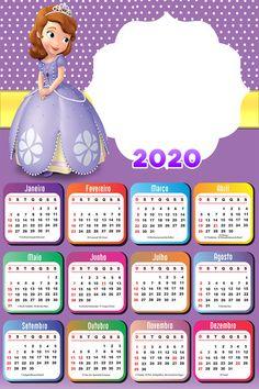 Print Calendar, Calendar Design, Hello Kitty Cartoon, Disney Paper Dolls, Sofia The First Birthday Party, Owl Theme Classroom, Nurse Art, School Frame, Disney Rapunzel