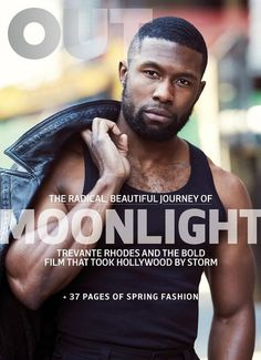 Moonlight Star Trevante Rhodes Poses for Out Magazine March 2017 Cover Story