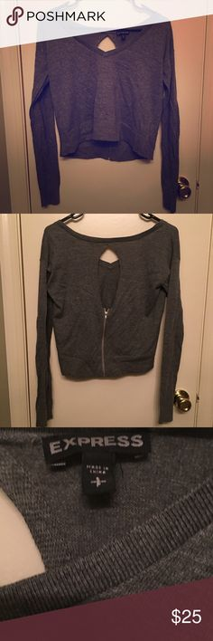 Express Crop Top Sweater This top is brand new with no tags. Goes great with jeans or leggings! Express Tops Crop Tops