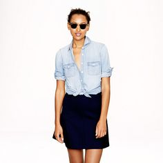 Must-have summer essential: Chambray Button-Down Shirt