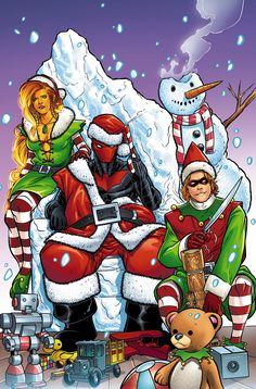 Red Hood and the Outlaws Annual Red Hood, Arsenal, and Starfire face the one enemy they may not be able to defeat: the holidays! New 52, Dc Comics, Redhood And The Outlaws, Robin Arkham Knight, Christmas Comics, Christmas Holiday, Christmas Ideas, Red Hood Jason Todd, Vertigo Comics