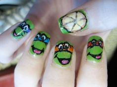 Ninja Turtle Nails Ninja Nail Polish Lacquer Floam Holographic metallic effect nail polish @opulentnails #ninjanails #floam
