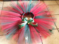 Beautiful Christmas Tutu with matching hair clip or by mapymorales, $18.00