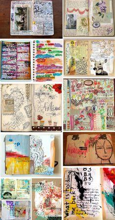 'Art Journaling 101 – The Many Faces of an Art Journal...!' (via Kristal Norton)