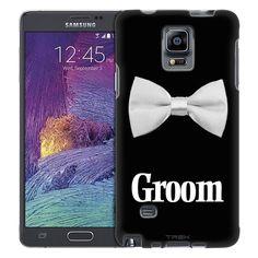 Samsung Galaxy Note 4 White Bowtie Groom Trans Case