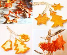 christmas tree decoration#orange#handmade