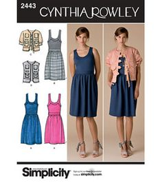 Dress and jacket pattern from Cynthia Rowley and Simplicity #sew