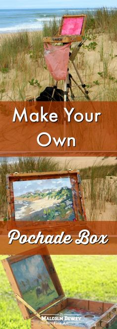 How to make your own pochade plein air painting box. Quickly and cheaply too. #pleinair