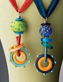 Pendants using Lampwork Beads. eproject by Kerry Bogert (kabconcepts) on interweave store