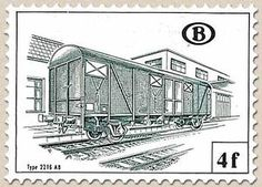 Railway Stamp: Carriage Type 2216 AB
