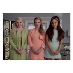 Official Scream Queens trailer with Emma Roberts, Jamie Lee Curtis,... ❤ liked on Polyvore featuring ariana grande