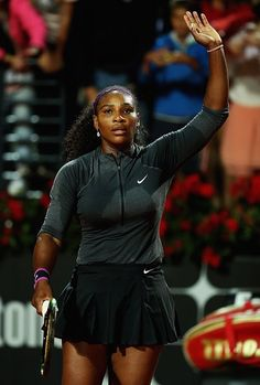 """@tennis_photos  """"This is probably the best match I have played since AO."""" @serenawilliams after def Svetlana Kuznetsova 62 60 #ibi16"""