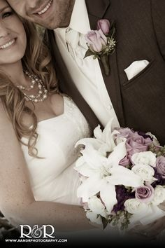 Mr. & Mrs. Wedding Photography   Wedding Flowers   Purple & White   New Mr. & Mrs.   Charmaine's Florist   #RandRCreativePhotography #weddings #bride #groom  #mrandmrs