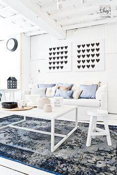 heart prints & fresh white