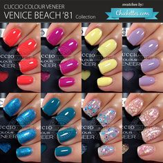 Cuccio Colour Veneer Venice Beach '81 Collection - swatches by Chickettes.com