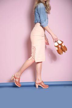 Pink Nairobi clogs + Valencia sandals