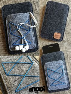 Handmade graphite  grey felt phone case by mooidsgn Cell Phones & Accessories - Cell Phone, Cases & Covers - http://amzn.to/2iNpCNS