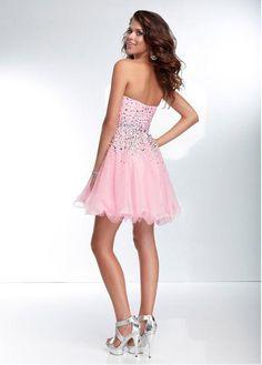 Stunning Silk Like Chiffon & Tulle Sweetheart Neckline Short A-line Homecoming Dress