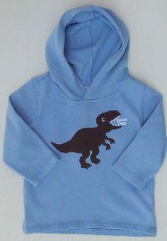 Gymboree Dino Mighty Boys Dino Snack Time Hoodie Shirt Sz 3-6 Months NWT #Gymboree #DressyEveryday